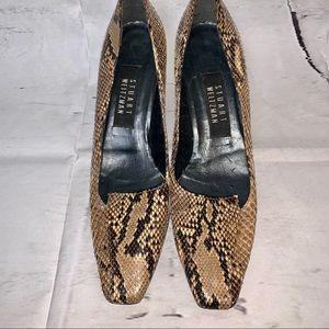 Vintage Stuart Weitzman Snake Print Heels 🖤